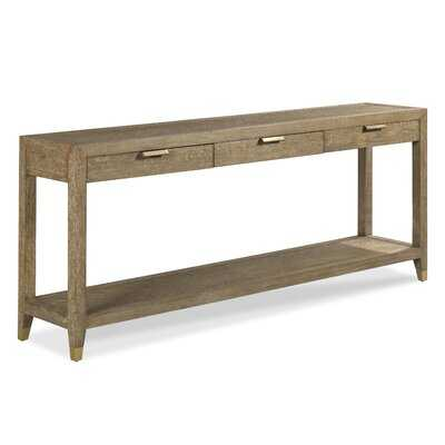 """Gibson 78"""" Solid Wood Console Table - Wayfair"""