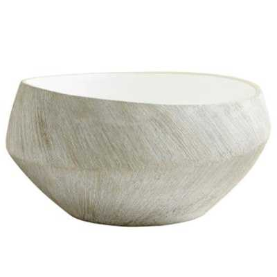 Selene Modern Classic White Ceramic Basic Bowl - Large - Kathy Kuo Home