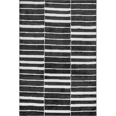 Striped Black Area Rug - Wayfair