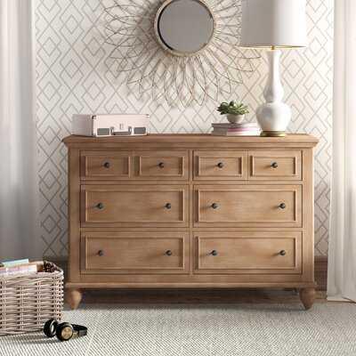 William 6 Drawer Double Dresser - Birch Lane