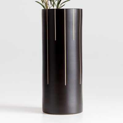 Anvers Large Black Vase - Crate and Barrel