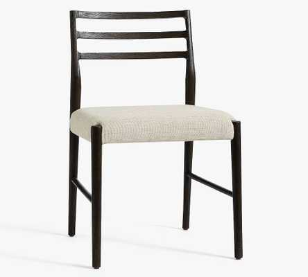 Quincy Basketweave Dining Chair, Black - Pottery Barn