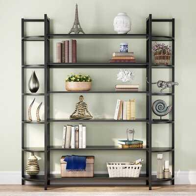 "Birttany 70"" H x 62"" W Metal Library Bookcase - Wayfair"