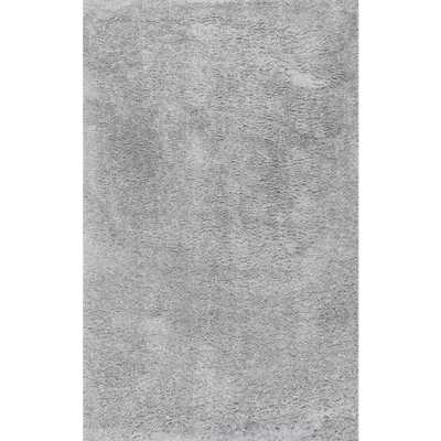 nuLOOM Kara Solid Shag Gray 10 ft. 2 in. x 14 ft. Area Rug - Home Depot