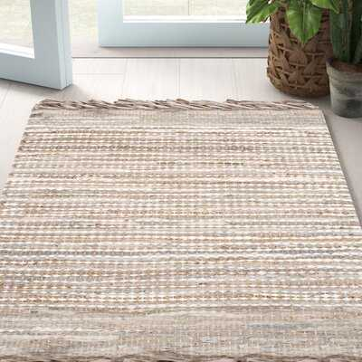 Makenna Handmade Leather Beige Rug - Wayfair