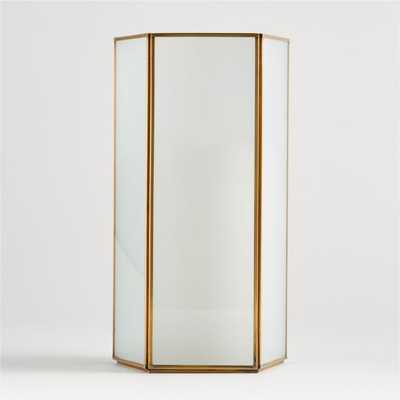 Andelyn Large Frosted Glass Hurricane - Crate and Barrel