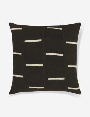 Rainey Mudcloth Pillow, Black - Lulu and Georgia
