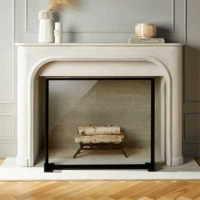 Ledge Glass Fireplace Screen - CB2