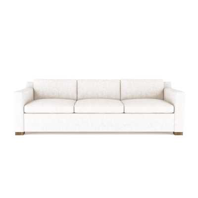 """Tandem Arbor Marcy Sofa Upholstery: Leather Alabaster, Size: 33.5"""" H x 108"""" W x 39"""" D - Perigold"""