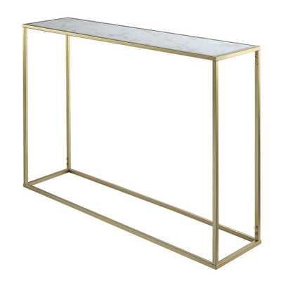 Convenience Concepts Gold Coast Gold and Faux Marble Console Table, Gold/Faux Marble - Home Depot