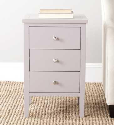 Deniz Nightstand With Storage Drawers - Quartz Grey - Arlo Home - Arlo Home