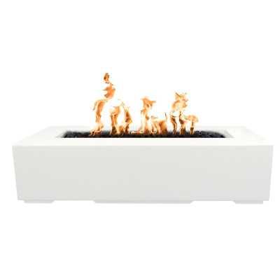 "The Outdoor Plus Regal Concrete Fire Pit Finish: Limestone, Size: 13"" H x 48"" W x 24"" D, Fuel Type: Propane - Perigold"