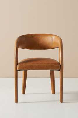Leather Hagen Dining Chair By Anthropologie in Brown - Anthropologie