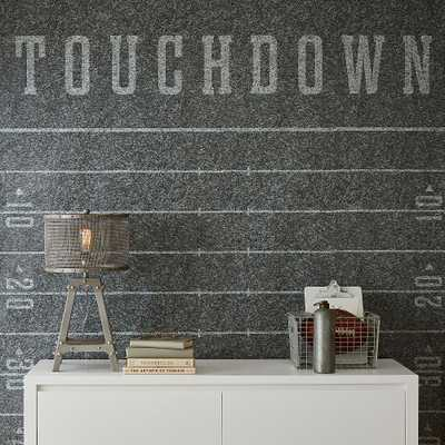 Football Field Peel and Stick Wallpaper Decal, Gray - Pottery Barn Teen