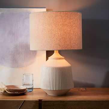 Roar + Rabbit Ceramic Table Lamp, White, Large- (Set of 2) - West Elm