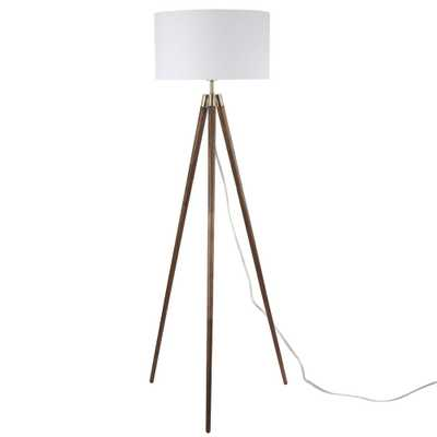 Light Society Celeste Tripod Floor Lamp in Walnut - Home Depot