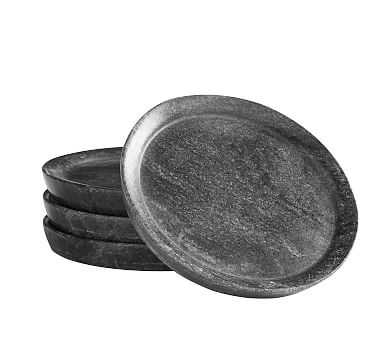 Black Marble Coasters, Set of 4 - Pottery Barn