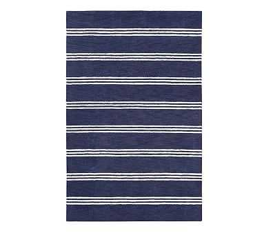 Blake Stripe Rug / 7'x10'/  Navy - Pottery Barn Kids