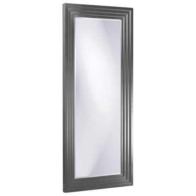 "Delano Modern & Comtemporary Beveled Full Length Mirror Size: 82"" x 34"", Finish: Charcoal Gray - Perigold"