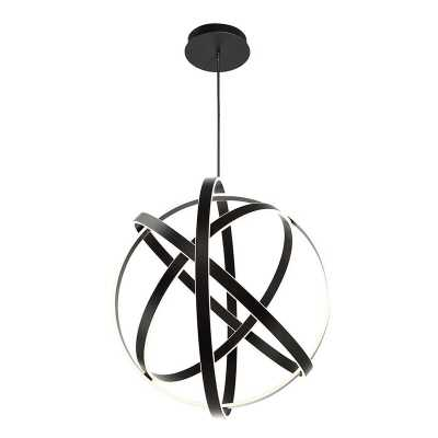 "Modern Forms Kinetic 1-Light Globe Chandelier Size: 38"" H x 38"" W x 2"" D, Finish: Black - Perigold"