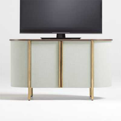 "Avedore Sage Green 42"" Media Console - Crate and Barrel"