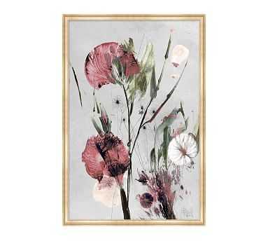 "Julianne Floral 1 Framed Matted Print, 23"" x 34"" - Pottery Barn"