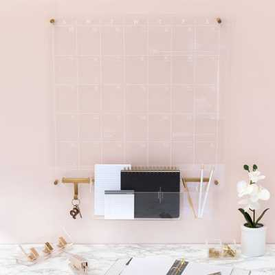 Russell + Hazel Acrylic Monthly Dry-Erase Calendar - Crate and Barrel