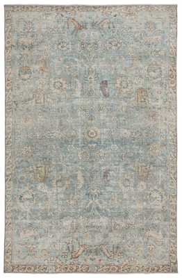 """Stag Oriental Teal/ Gold Area Rug (7'10""""X9'10"""") - Collective Weavers"""