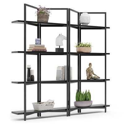 "Cassell 70.86"" H x 70.07"" W Metal Etagere Bookcase - Wayfair"