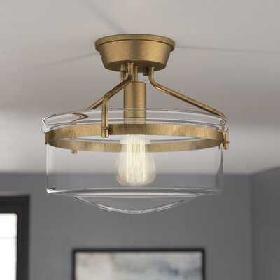Pollak 1-Light Semi Flush Mount - Wayfair