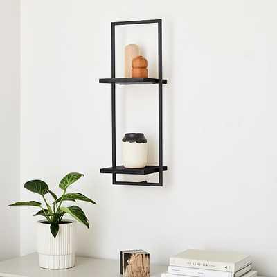 Shelfmate Black & Black D, Tall Vertical Double Shelf - West Elm