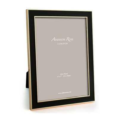 "Addison Ross Enamel Picture Frame Color: Black/Gold, Picture Size: 4"" x 6"" - Perigold"