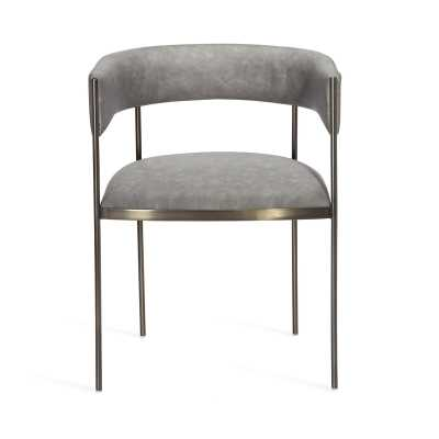 Interlude Ryland Upholstered Dining Chair Frame Color: Distressed Charcoal - Perigold