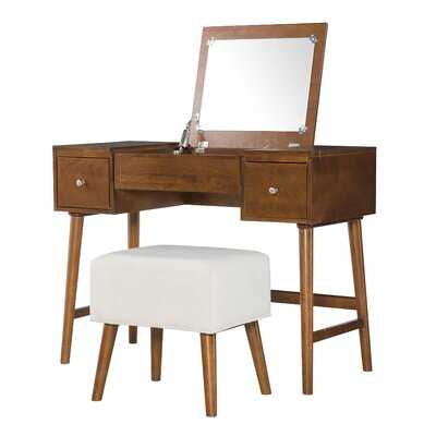Makayla Vanity Set with Mirror - AllModern
