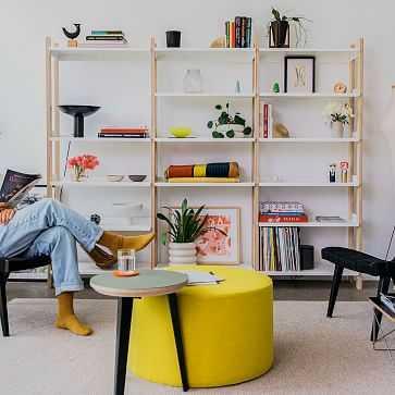 Floyd Tall Bookshelf, 6 Shelves, Ash + White - West Elm