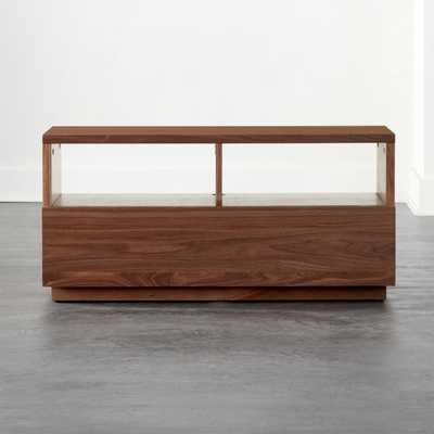 Chill Walnut Wood Mini Media Console - CB2