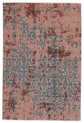 "Vibe by Zea Trellis Pink/ Teal Area Rug (5'X7'6"") - Collective Weavers"