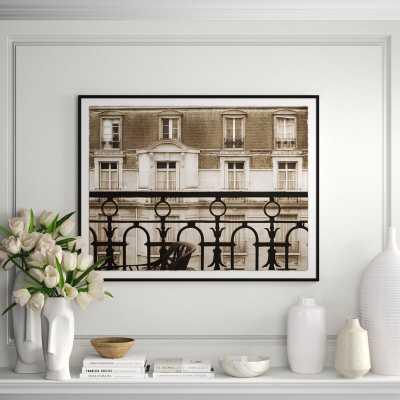 Soicher Marin 'Stroll Through Paris-From the Window Avenue Charles Floquet' Framed Graphic Art Print - Perigold