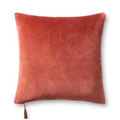 """PILLOWS P1153 RUST / GOLD 22"""" x 22"""" Cover Only - Magnolia Home by Joana Gaines Crafted by Loloi Rugs"""
