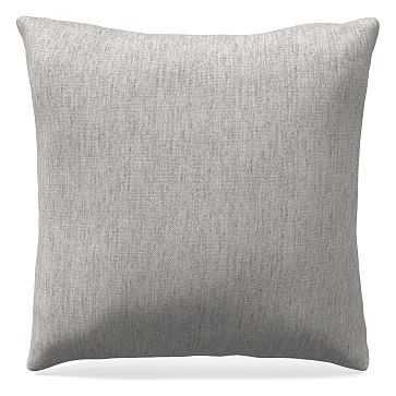 "24""x 24"" Pillow, Performance Coastal Linen, Platinum - West Elm"