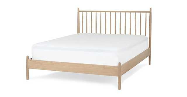 Lenia White Oak King Bed - Article