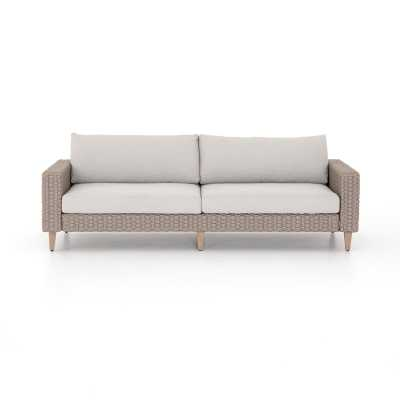 "Four Hands Remi Outdoor Sofa - 90"" Frame Color: Washed Brown, Cushion Color: Stone Gray - Perigold"