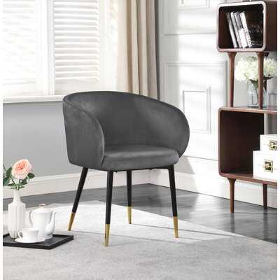 Pottsville Velvet Upholstered Arm chair - Wayfair