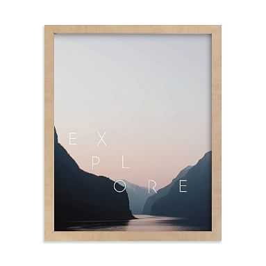 Explore Your World Framed Art by Minted(R), Natural, 8x10 - Pottery Barn Teen