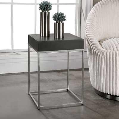 Jase Black Concrete Accent Table - Hudsonhill Foundry