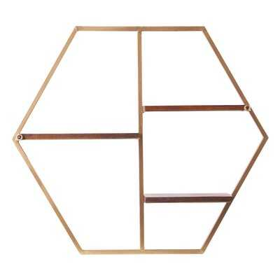 Herman Hexagon Decorative Wall Shelf - Wayfair