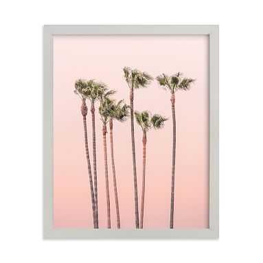 Seven Palmtrees Framed Art by Minted(R), Grey, 8x10 - Pottery Barn Teen