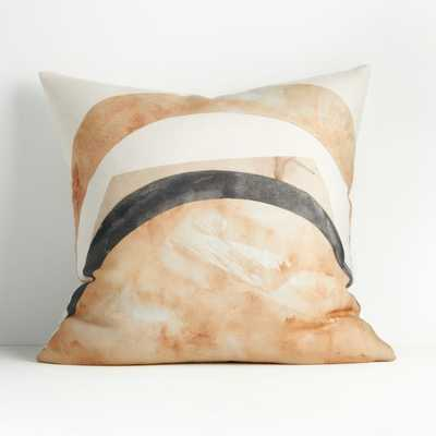"""Rising Print Pillow 23"""" with Down Alternative Insert - Crate and Barrel"""