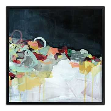 "Abstract Landscape Dark, Full Bleed 44""x44"", Black Wood Frame - West Elm"
