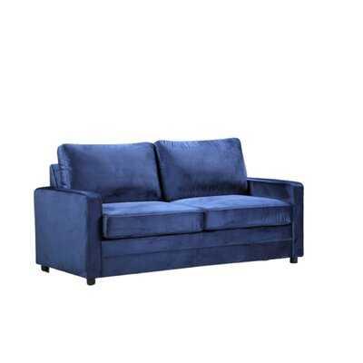 "Knightsville Velvet 70"" Square Arms Sofa Bed - Wayfair"